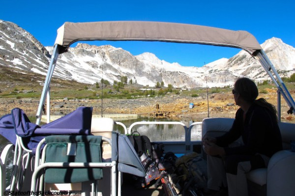 The Saddlebag Lake Resort Boat Taxi.